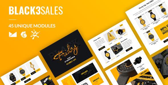 Black3Sales Email-Template + Online Builder