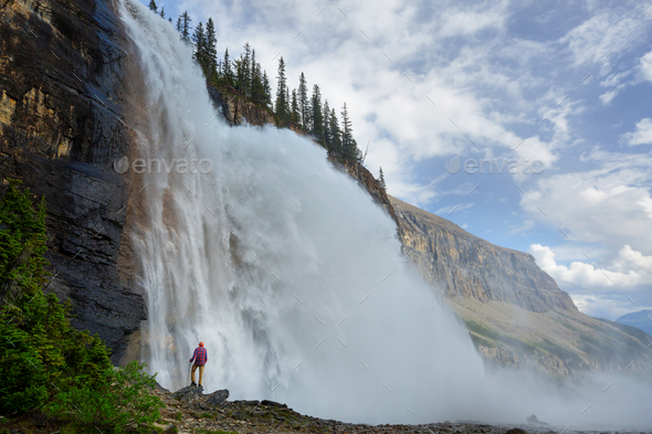 Waterfall in Canada - Stock Photo - Images