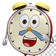 Alarm Clock Cartoon 3d Character Running And Waving (5-Pack) - VideoHive Item for Sale
