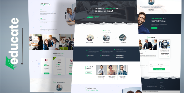 EDUCATE – Education Landing page