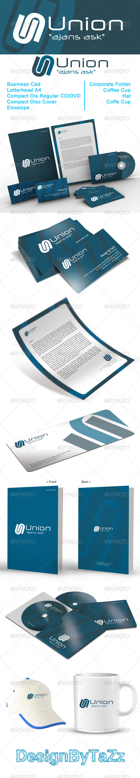 Union Corporate Identity Package - Stationery Print Templates