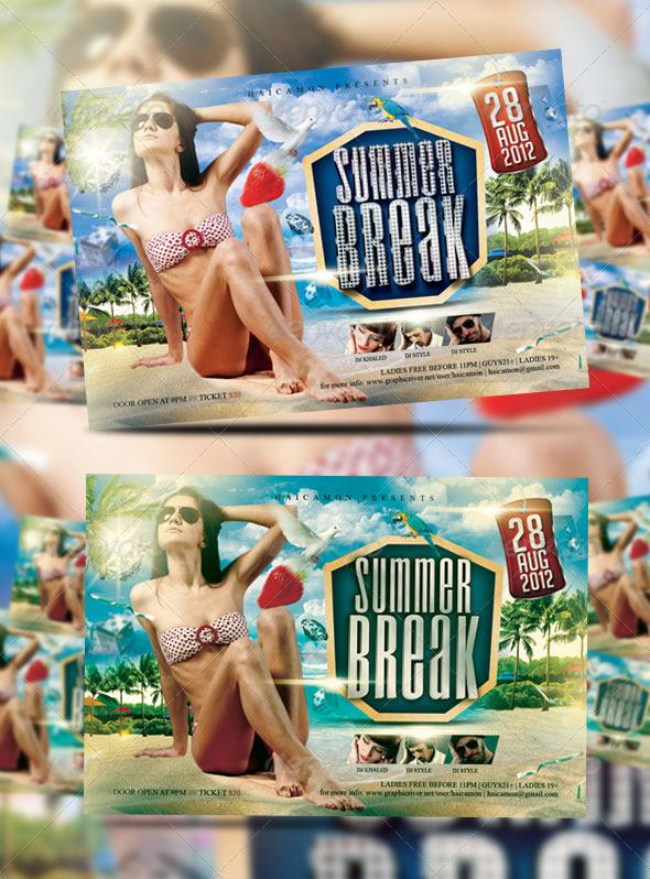 Summer Break Party Flyer Vol_10 - Clubs & Parties Events