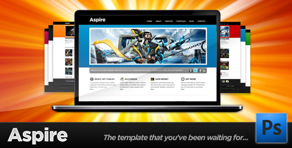 Free Download Aspire - Premium PSD - Blog + Portfolio Template Nulled Latest Version