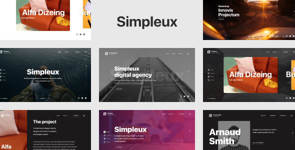 Simpleux – Beautiful Creative Website Template for Agency, Business and Portfolio