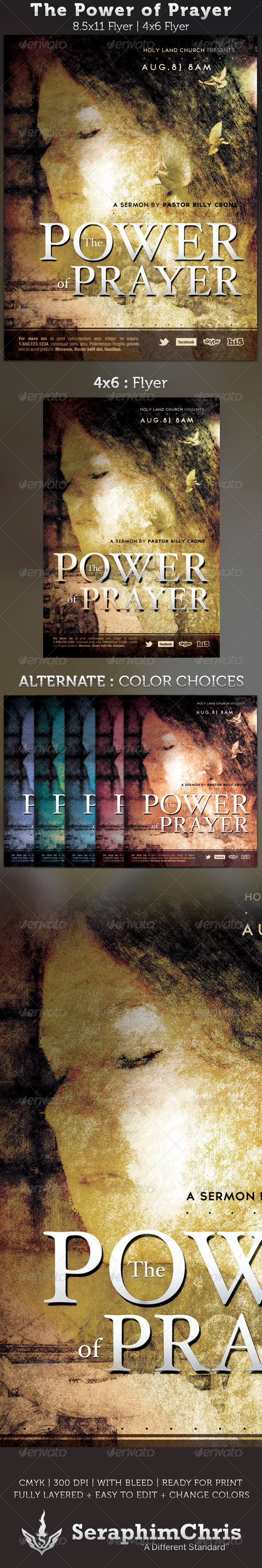 The Power of Prayer Church Flyer Template - Church Flyers