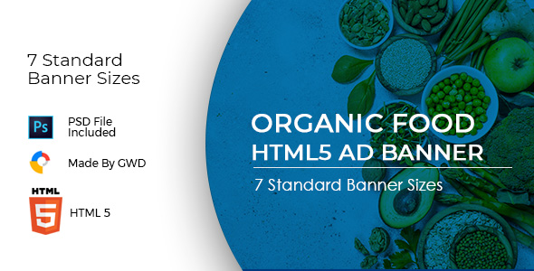 Animated Html5 Organic Food Ad Banners Template