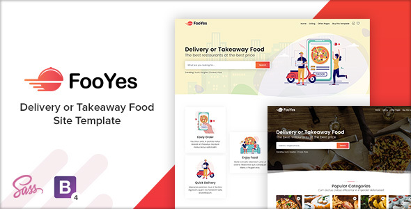 FooYes – Delivery or Takeaway Food Site Template