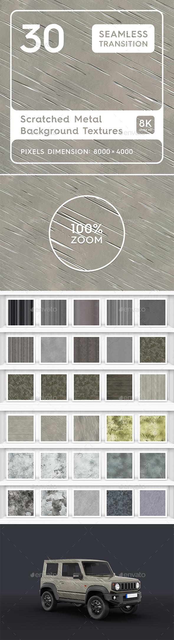 30 Scratched Metal Background Textures
