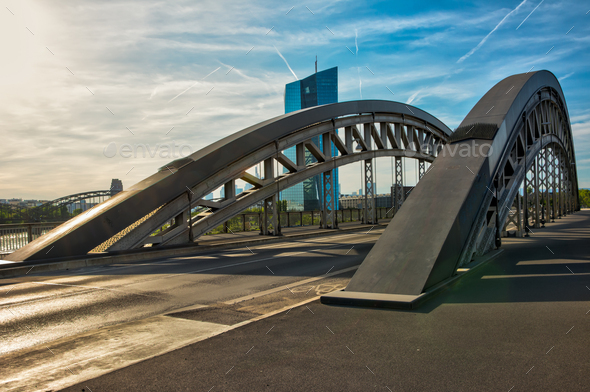 Bridge in Frankfurt - Stock Photo - Images