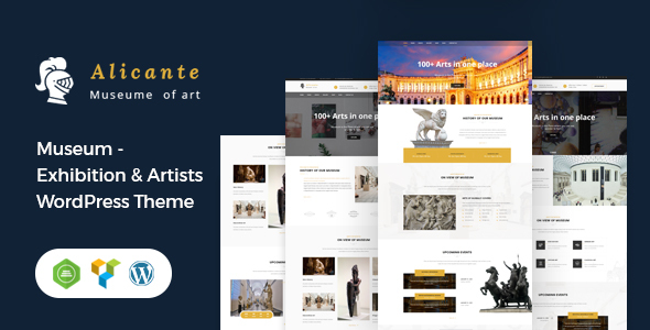 Alicante - Museum & Exhibition WordPress Theme