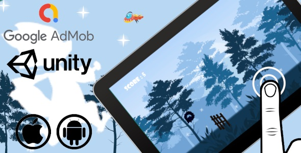 Raccoon Runner | Unity Casual Complete Project with Admob ad for Android and iOS