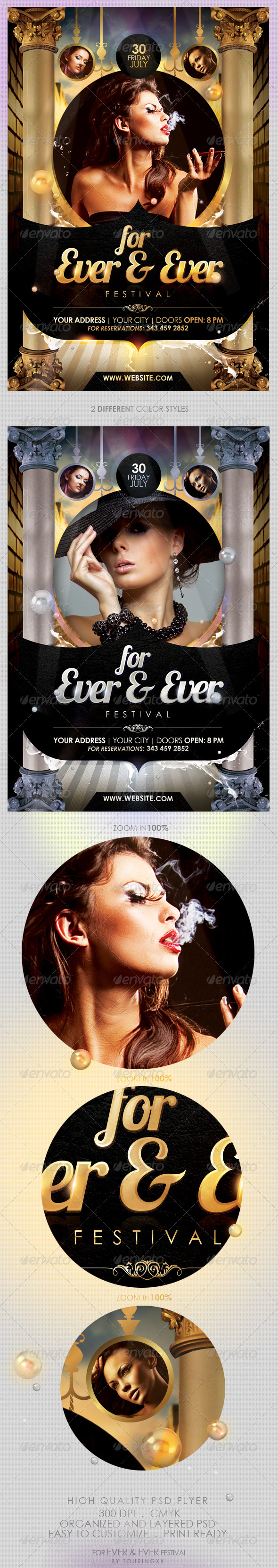 For Ever & Ever Festival Flyer Template - Clubs & Parties Events