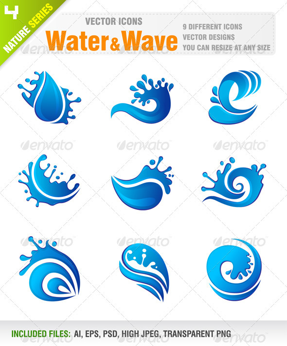 Water & Wave icons - Nature Conceptual