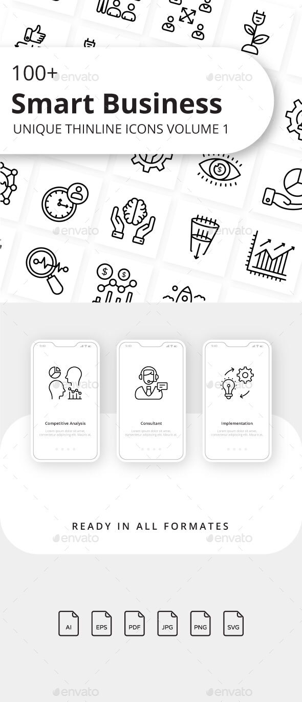 Smart Business Volume 1 Outline Icons