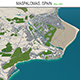 Maspalomas city Spain 3d model 30km