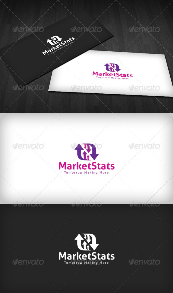 Market Stats Logo - Vector Abstract