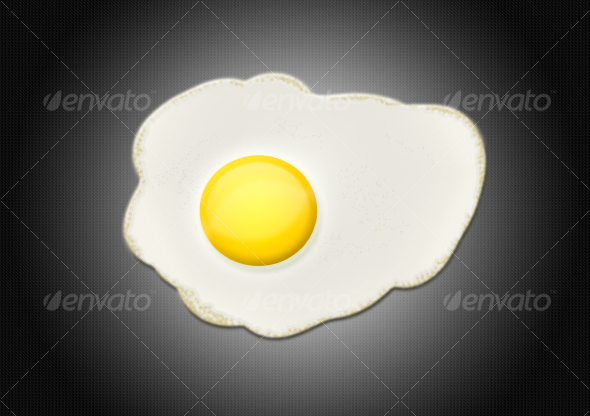 Fried Egg - Objects Illustrations