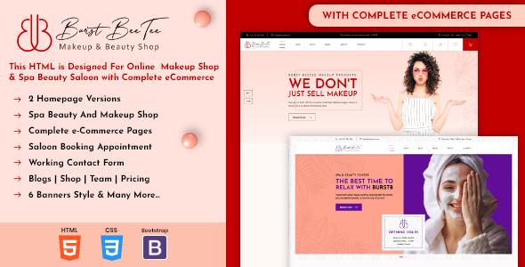 Burst Beetee | Cosmetics Shop HTML Template