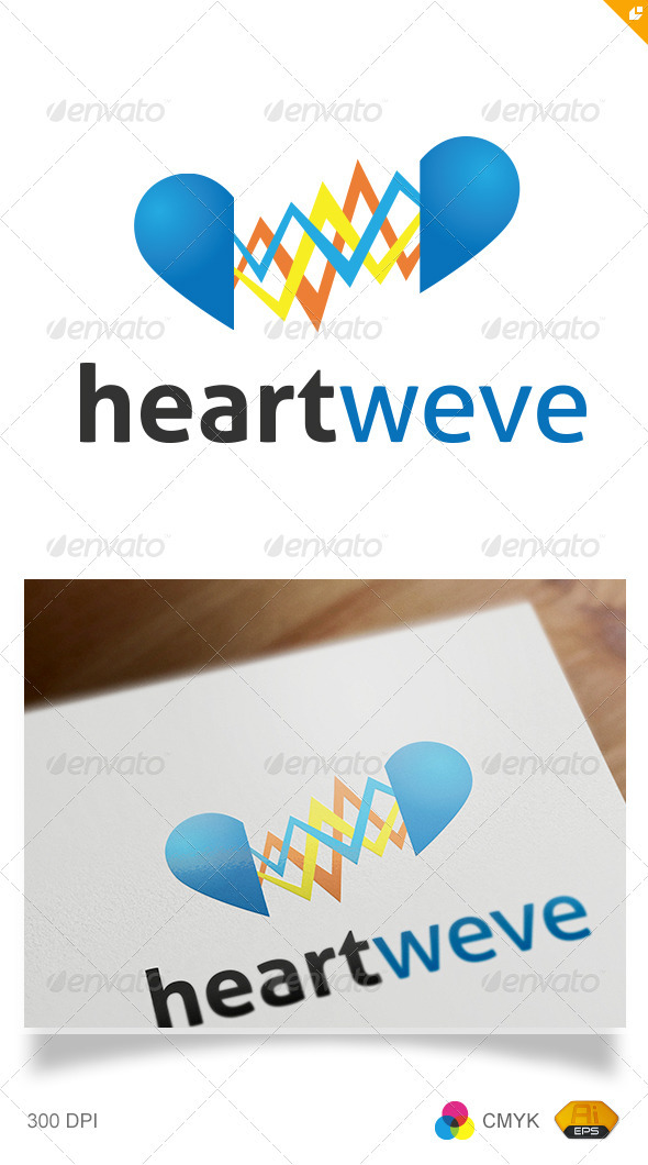 Heart Wave Logo - Humans Logo Templates