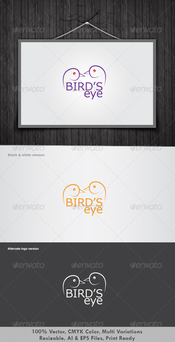 Birds Eye Logo - Animals Logo Templates