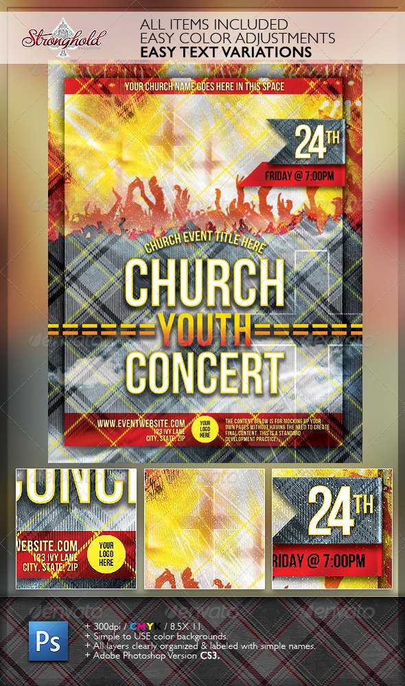 Church Group Event Flyer Template - Church Flyers