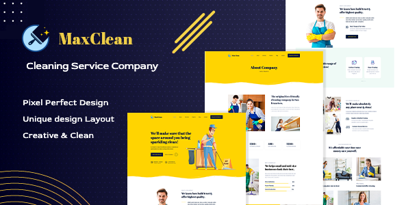 MaxClean - Cleaning HTML Template