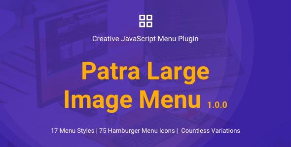 Patra Large Image Menu | JavaScript Menu Plugin