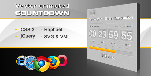 Download Vector Animated Countdown With Progress Bar nulled version
