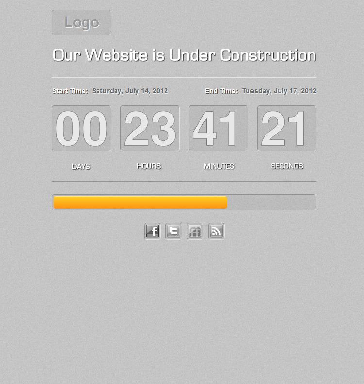 Vector Animated Countdown With Progress Bar