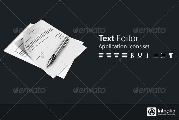 Text Editor Icon Set - Software Icons