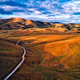 Aerial view of beautiful Zlatibor region landscape with asphalt road passing through - PhotoDune Item for Sale