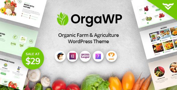 OrgaWP – Organic Farm & Agriculture WordPress Theme