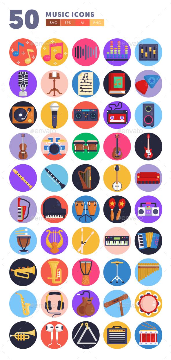 50 Music Icons