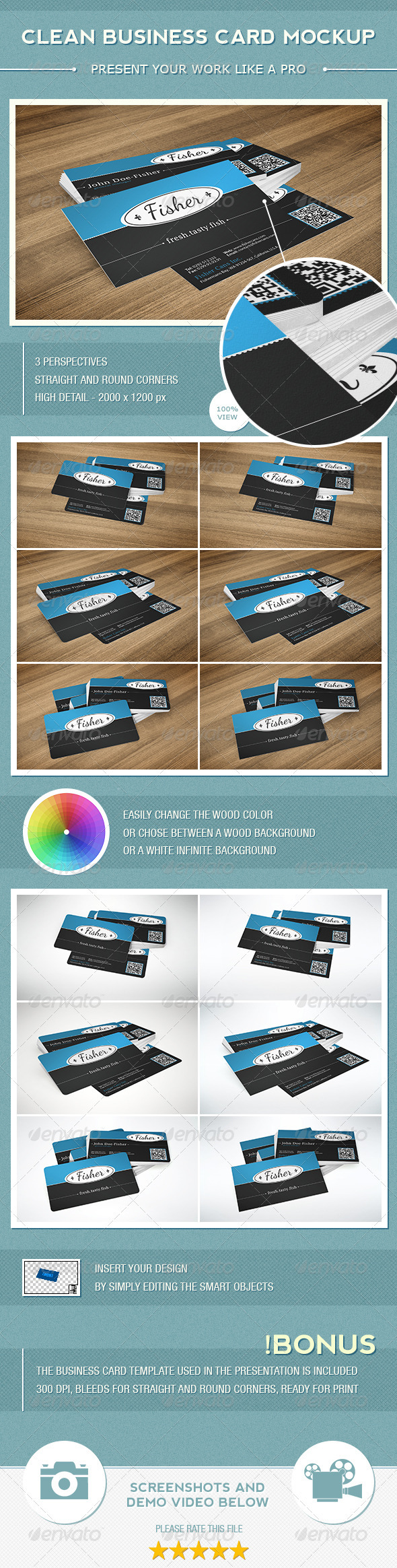 Clean Business Card Mockup - Business Cards Print