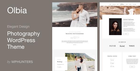 Olbia – Elegant WordPress Theme for Photographers