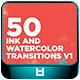 50 Ink And Watercolor Transitions V1 - VideoHive Item for Sale