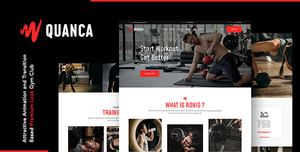 Quanca | Premium Gym Club HTML Template