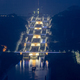 night scene of three gorges five-level ship lock - PhotoDune Item for Sale