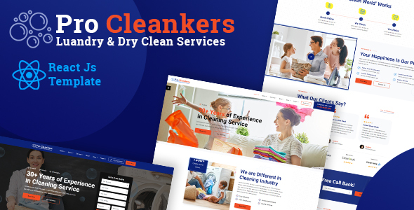 Procleankers | Laundry Dryclean React Template