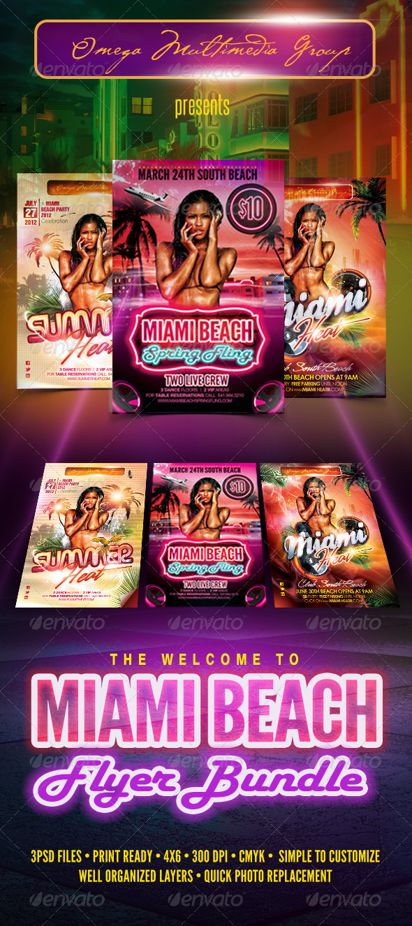 Welcome To Miami Bundle - Clubs & Parties Events