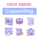 80 Copywriting Icons - Blush Series