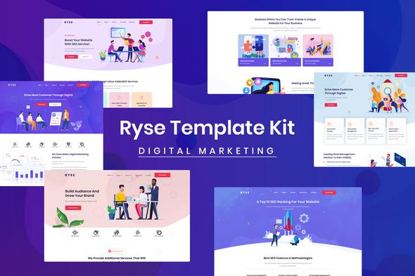 Ryse – SEO & Digital Marketing Elementor Template Kit