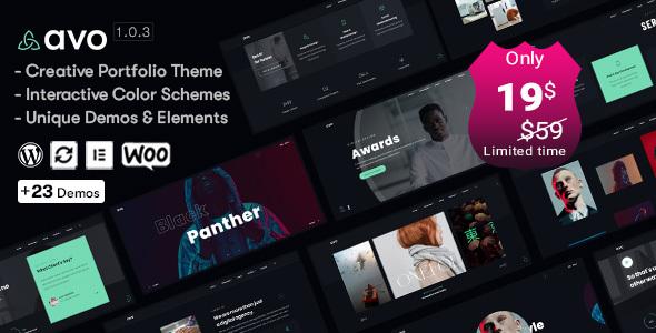 Avo – Creative Portfolio & Agency WordPress Theme