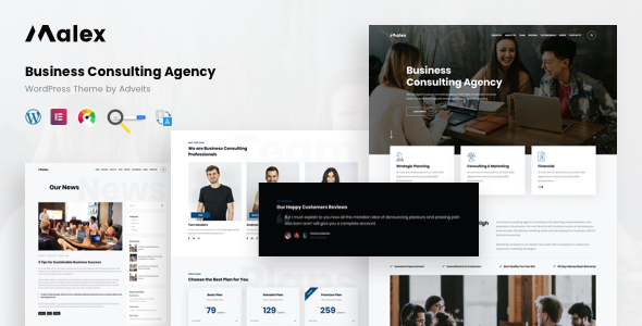 Malex – Business Consulting Agency WordPress Theme