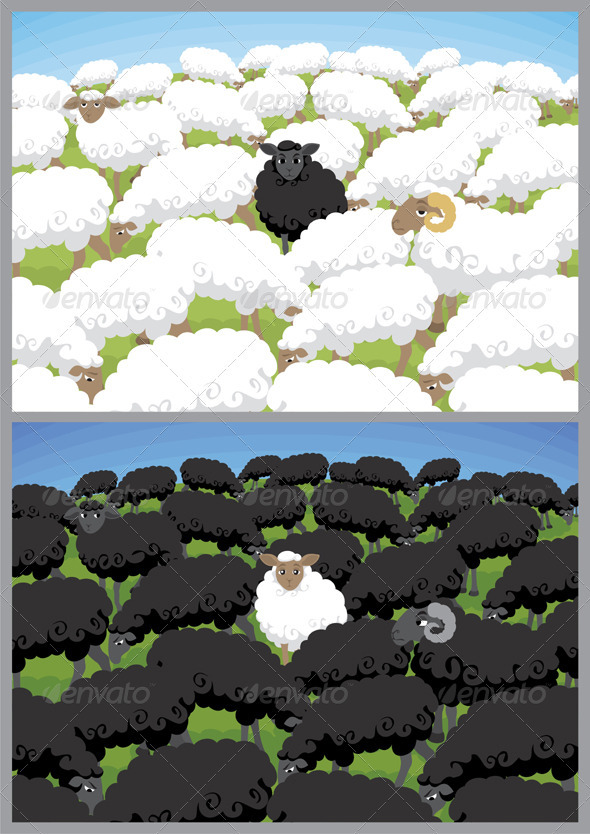 Black Sheep - Characters Vectors