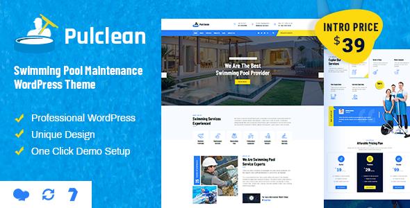 Pulclean – Swimming Pool Maintenance WordPress