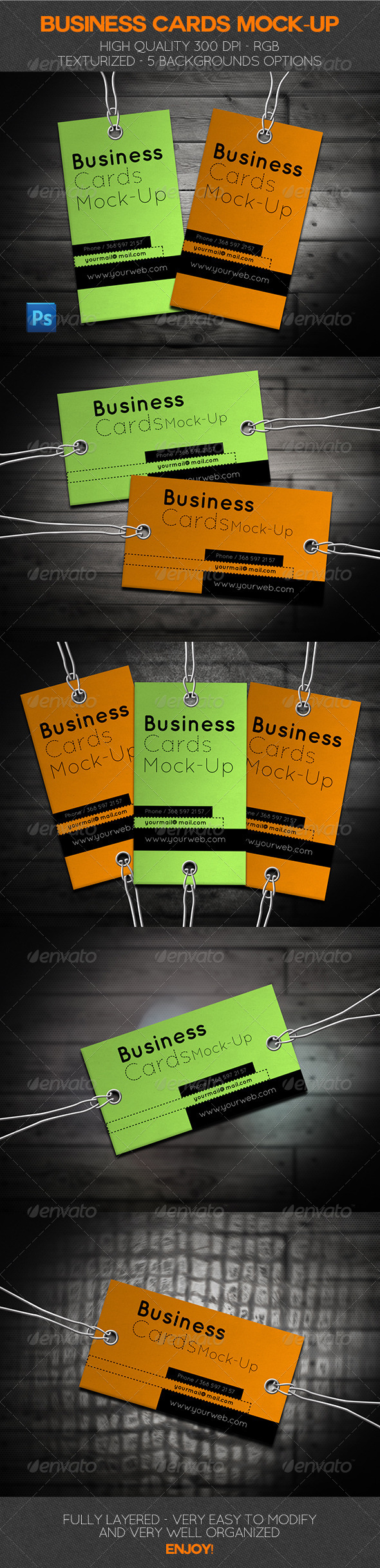 Business Cards Mock-Up - Business Cards Print