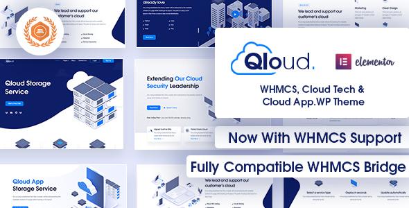Qloud - WHMCS, Cloud Computing, Apps & Server WordPress Theme