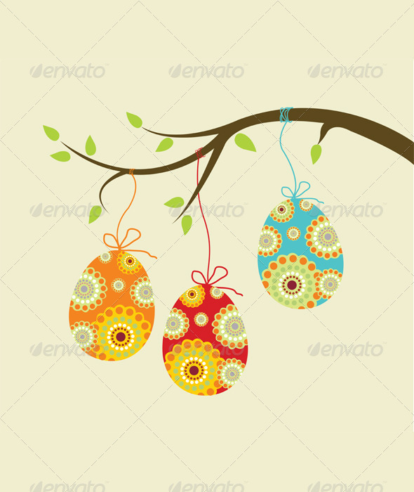 Hanging easter eggs - Miscellaneous Seasons/Holidays