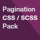 Pagination CSS / SCSS Pack